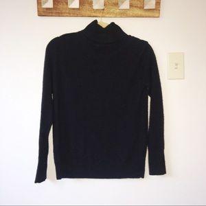Everlane Black Cashmere Turtleneck Sweater